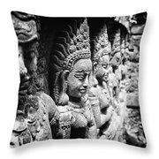 Angkor Beautiful Apsaras Throw Pillow