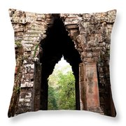 Angkor Thom East Gate 02 Throw Pillow