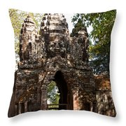 Angkor Thom North Gate 01 Throw Pillow