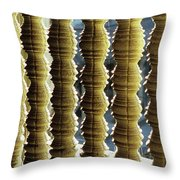Angkor Wat Colonnettes 01 Throw Pillow