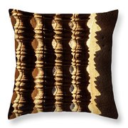 Angkor Wat Colonnettes 03 Throw Pillow