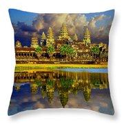 Angkor Wat Just Before Sunset Throw Pillow