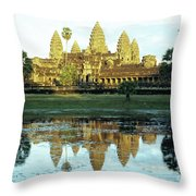 Angkor Wat Reflections 01 Throw Pillow