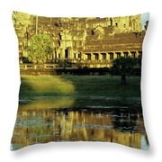 Angkor Wat Reflections 02 Throw Pillow