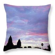 Angkor Wat Sunrise 02 Throw Pillow