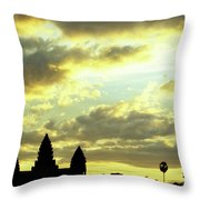 Angkor Wat Sunrise 03 Throw Pillow