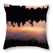 Angkor Wat Sunrise Cambodia Throw Pillow
