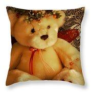 Angle Bear  Throw Pillow