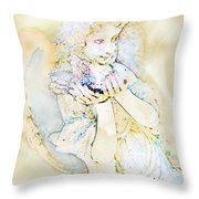 Angle With Dove Photoart Throw Pillow