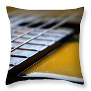 Angled Acoustic Guitar  Throw Pillow