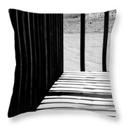 Angles And Shadows - Black And White Throw Pillow