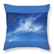 Angels In The Sky Throw Pillow