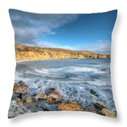 Anglesey Seascape Throw Pillow