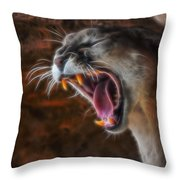 Angry Cougar Throw Pillow