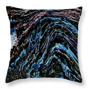 Angry Sea Throw Pillow