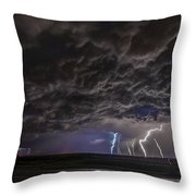 Angry Skies Throw Pillow