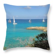 Anguilla Regatta Throw Pillow