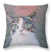 Anguish Of A Cat Throw Pillow