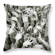 Anguish Throw Pillow by Shaun Higson