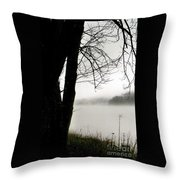 Angular Fog Throw Pillow