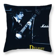 Angus Chords Delight Crowds In Blue Throw Pillow