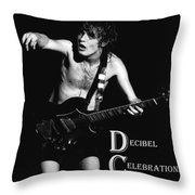 Angus Creates Decibel Celebrations Throw Pillow