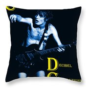 Angus Creates Decibel Celebrations In Blue Throw Pillow