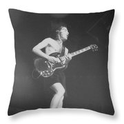 Angus Young Acdc Throw Pillow