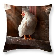 Animal - Chicken - Lost In Thought Throw Pillow