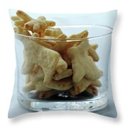 Animal Crackers Throw Pillow