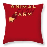 Animal Farm Book Cover Poster Art 1 Throw Pillow