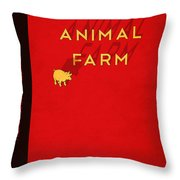 Animal Farm Book Cover Poster Art 2 Throw Pillow