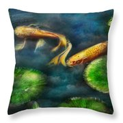 Animal - Fish - The Shy Fish  Throw Pillow by Mike Savad