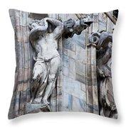 Animal Gargoyles Duomo Di Milano Italia Throw Pillow