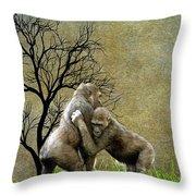 Animal - Gorillas - Isn't Love Grand Throw Pillow
