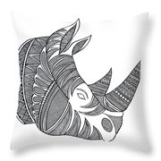 Animal Head Hippo Throw Pillow