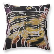 Animal In The Bush Feeds Young One. Throw Pillow