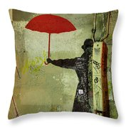 Animal Lover In Paris Throw Pillow