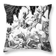 Animal Magnetism, 1784-5 Throw Pillow