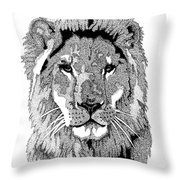 Animal Prints - Proud Lion - By Sharon Cummings Throw Pillow
