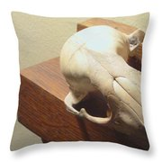 Animal Skull Mantel 2 12 2011 Throw Pillow