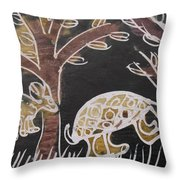 Animals On The Farm. Throw Pillow