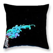 Animated Space Man Throw Pillow