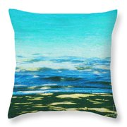 Anini Beach Kauai Throw Pillow