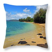 Anini Beach Throw Pillow