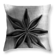 Anise Star Single Text Distressed Black And Wite Throw Pillow