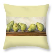 Anjou Pears Throw Pillow