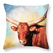 Ankole Bull Throw Pillow