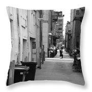 Ann Arbor Alley Throw Pillow