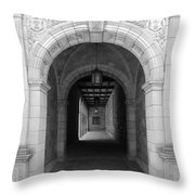 Ann Arbor Michigan Archway Throw Pillow
